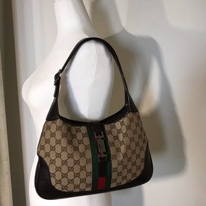 Gucci Monogran Jackie O Hobo 100% AUTHENTIC